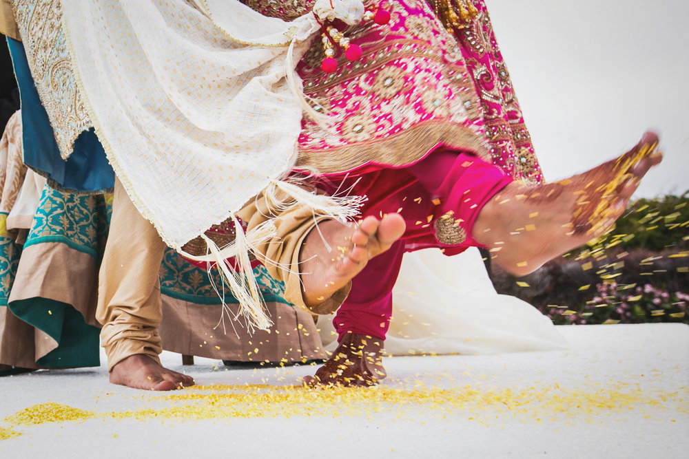 South Asian Trump National Golf Club Wedding - Kicking Together