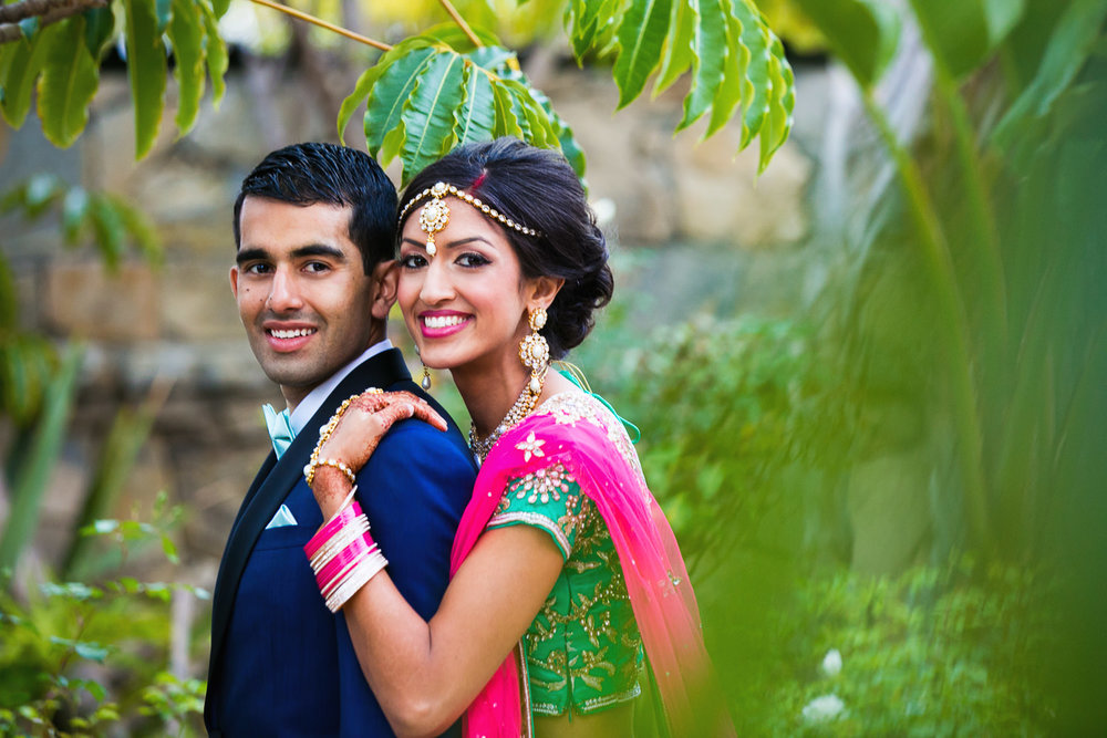 South Asian Trump National Golf Club Wedding - Newly Weds Embracing