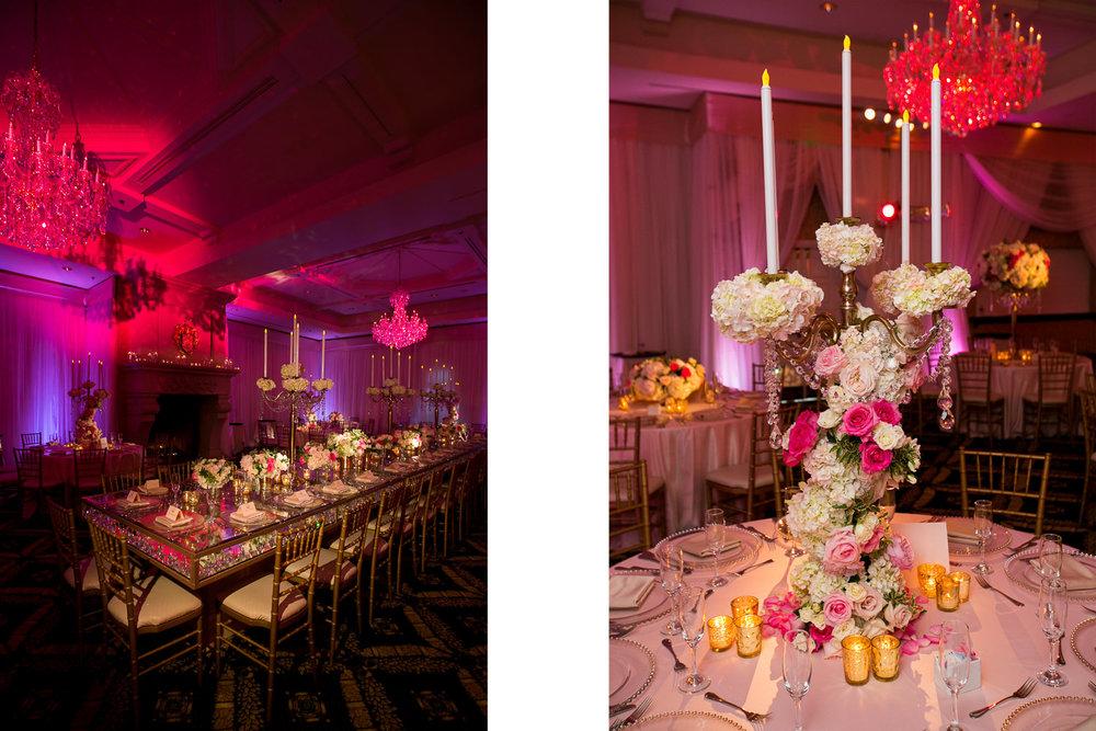 South Asian Trump National Golf Club Wedding - Wedding Reception Decor