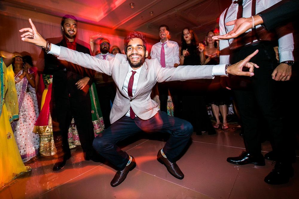 South Asian Trump National Golf Club Wedding - Guests Celebrating