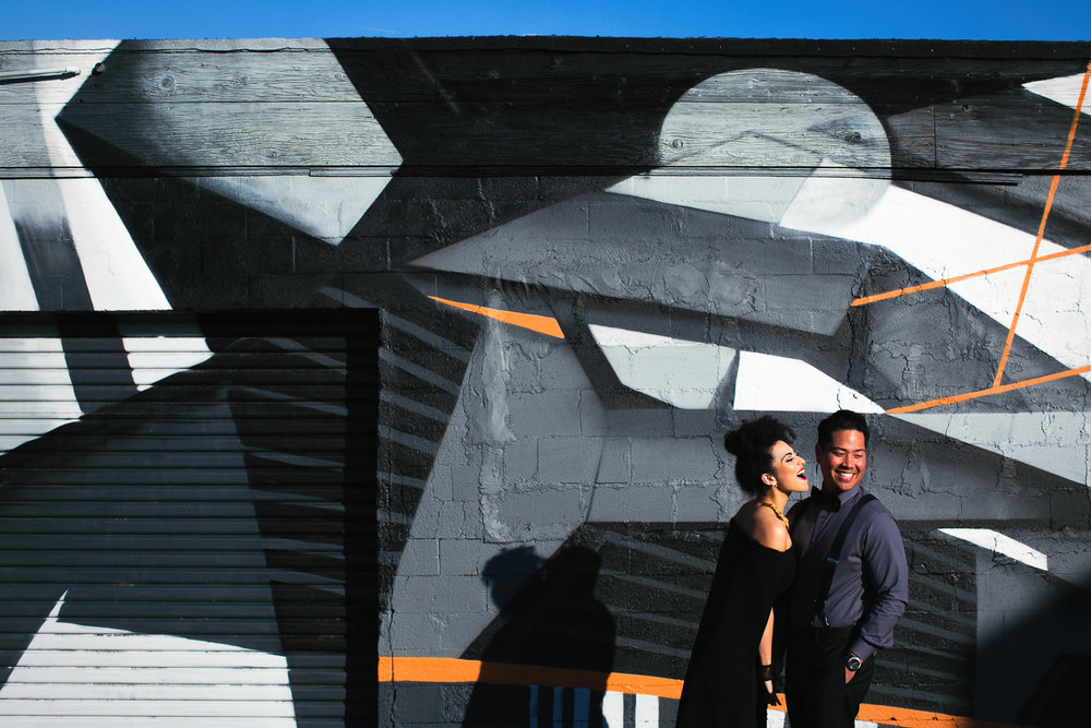 Fashionable Engagement in Downtown Los Angeles - Gorgeous shot