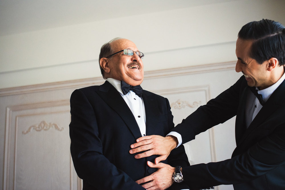 Turkey Wedding - Groom with his father