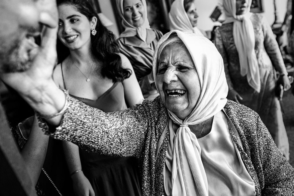 Turkish Wedding - Great Black and White of Turkish Guests