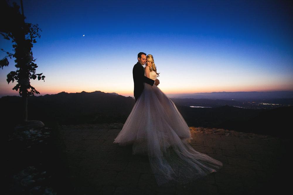 Malibu Rocky Oaks Photographer - Embracing under the sky