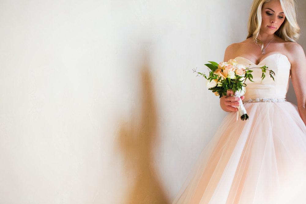 Malibu Rocky Oaks Photographer - Bride Portrait with Flowers