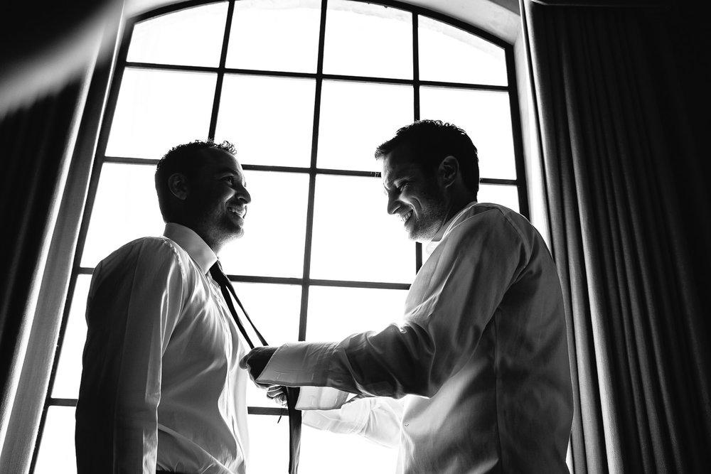 Malibu Rocky Oaks Photographer - Bride Getting Help Getting Ready