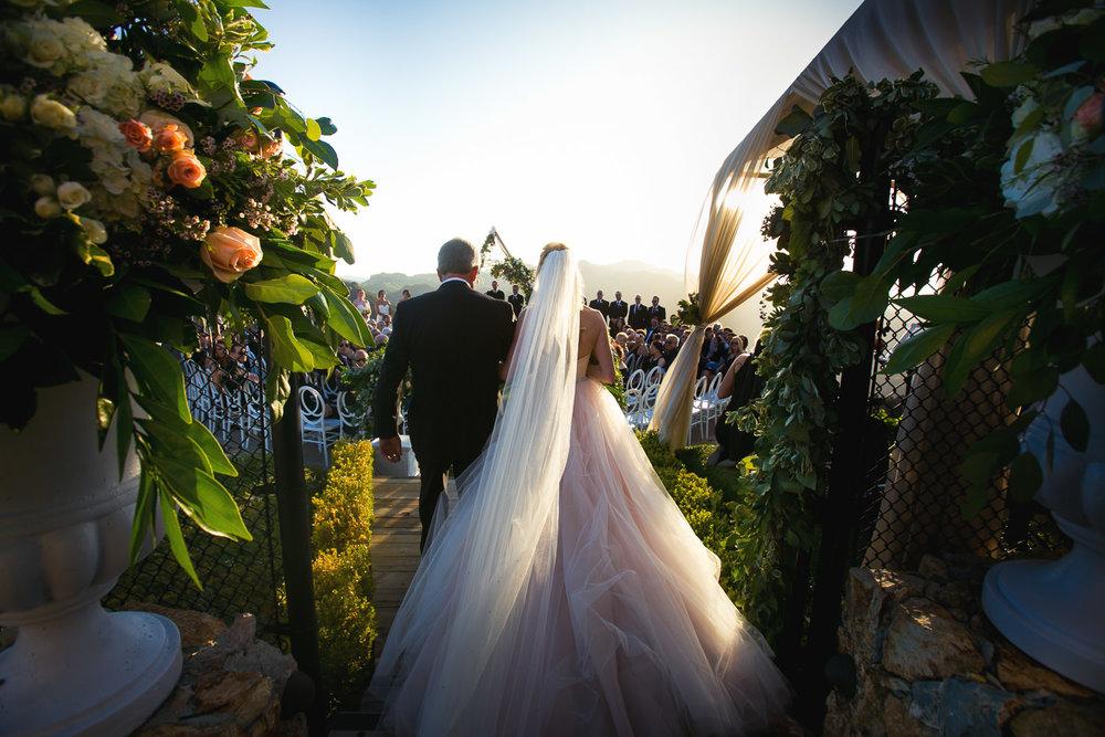 Malibu Rocky Oaks Photographer - Bride Walking The Aisle