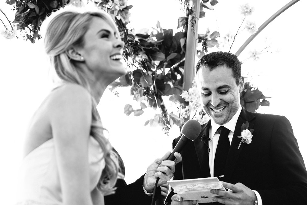 Malibu Rocky Oaks Photographer - Groom Reading Vows
