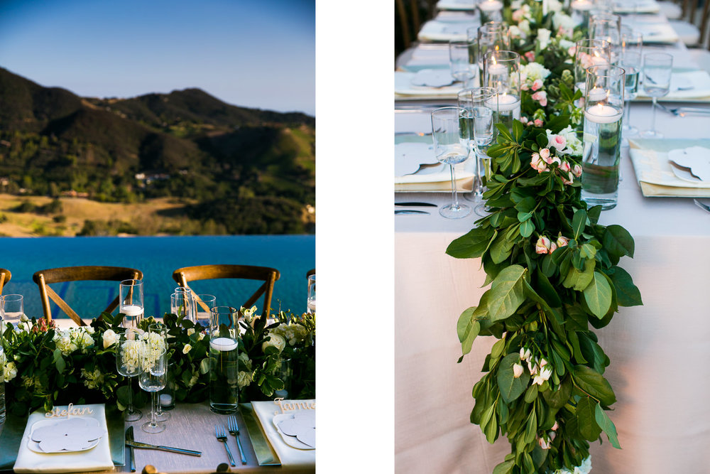 Malibu Rocky Oaks Photographer - Gorgeous Wedding Reception Decor