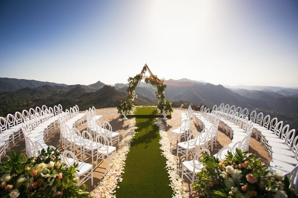 Malibu Rocky Oaks Photographer - Wedding Ceremony Decor