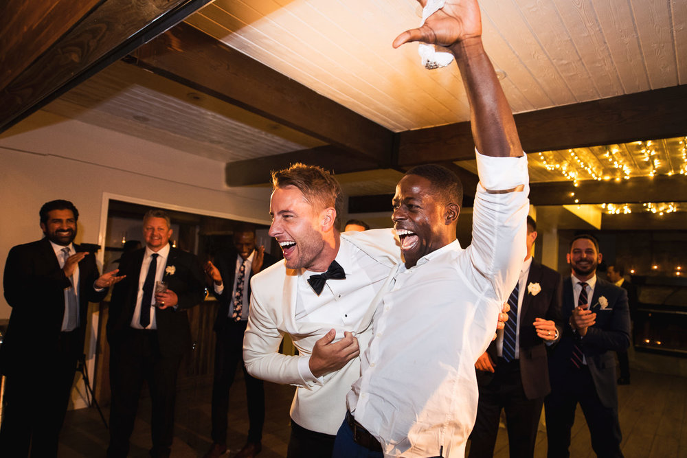 Justin Hartley with Sterling K Brown at his Calamigos Ranch wedding to Chrishell Stauss