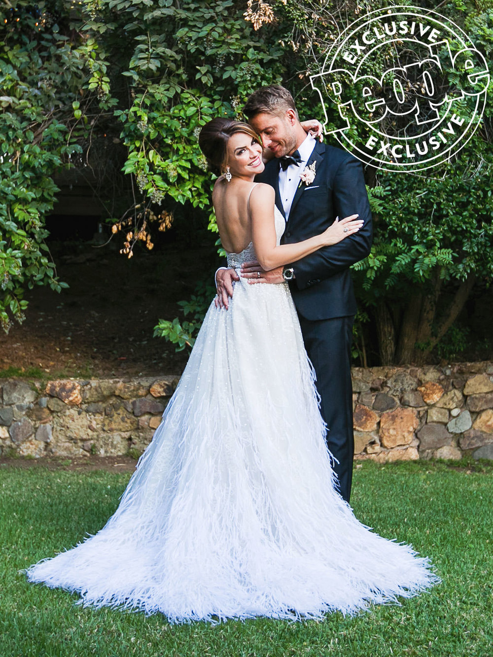 Justin Hartley Wedding in People Magazine at Calamigos Ranch