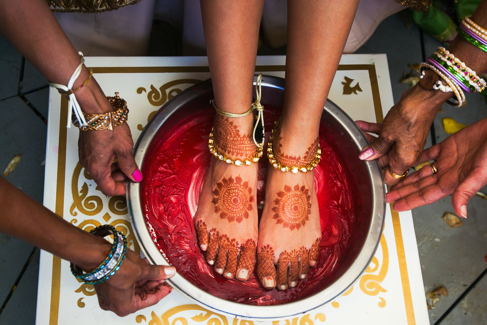 Paradisus Cancun Indian Wedding - Capturing Foot Prints