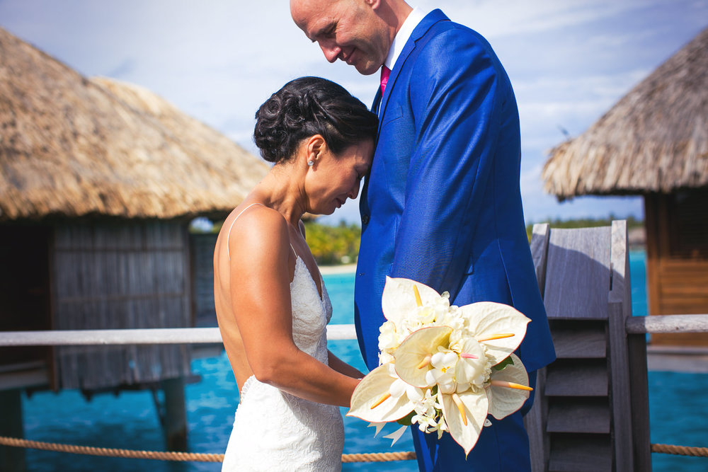 Four Seasons Bora Bora Wedding - Brides emotions