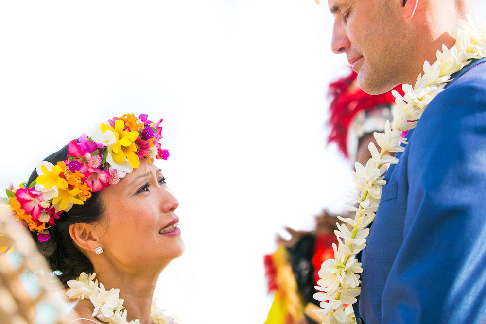 Four Seasons Bora Bora Wedding - Crying in joy