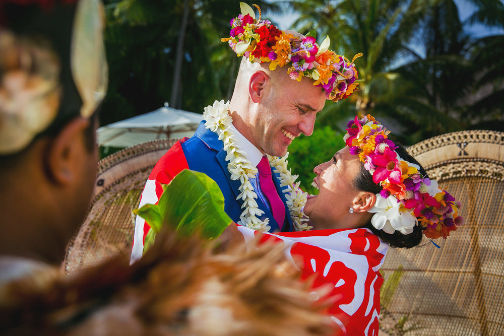 Four Seasons Bora Bora Wedding - Just Married