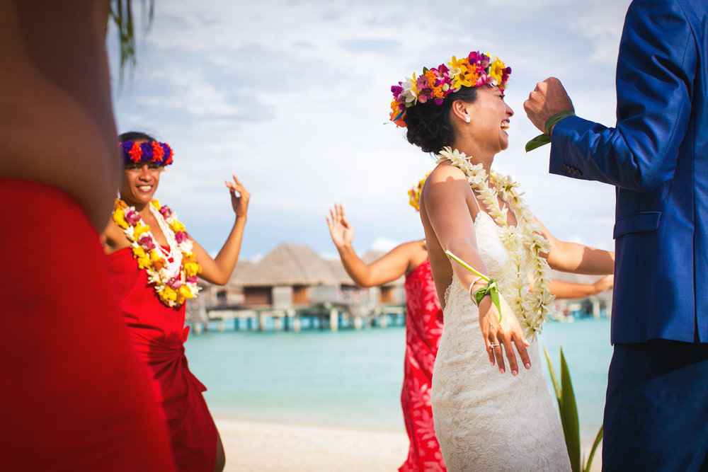 Four Seasons Bora Bora Wedding - Dancing with Joy