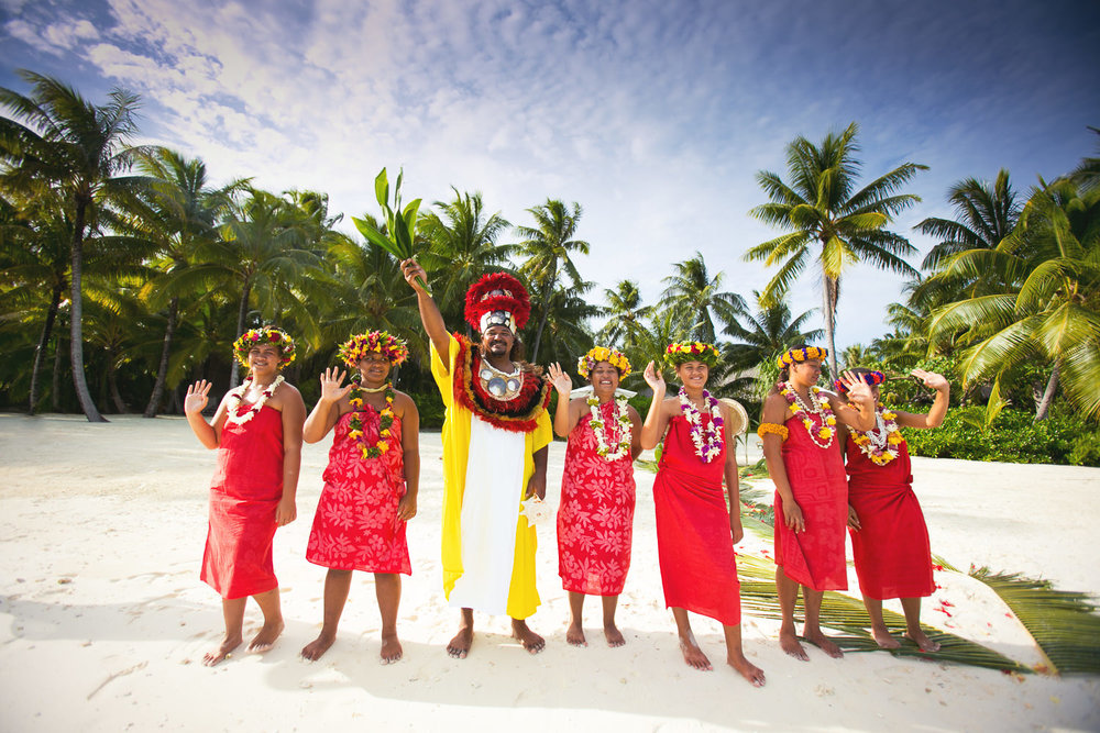 Four Seasons Bora Bora Wedding - Traditional Wedding Party
