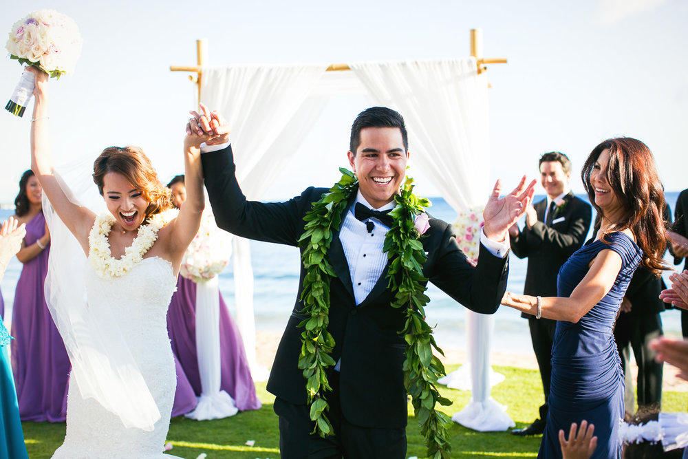 Hyatt Regency Maui Wedding - Just married