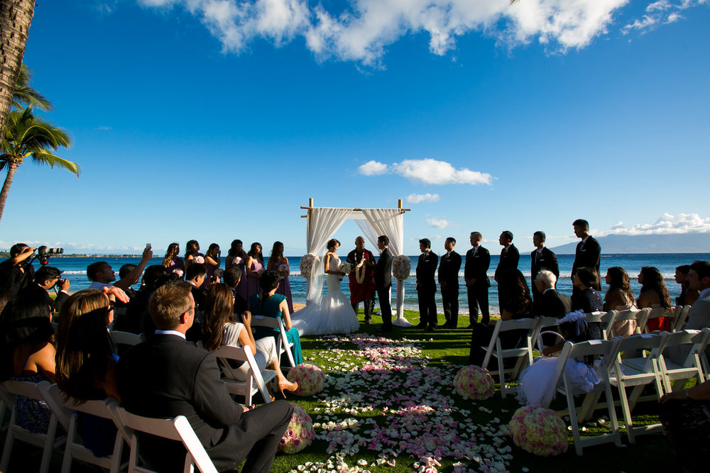 Hyatt Regency Maui Wedding - Beautiful wedding ceremony