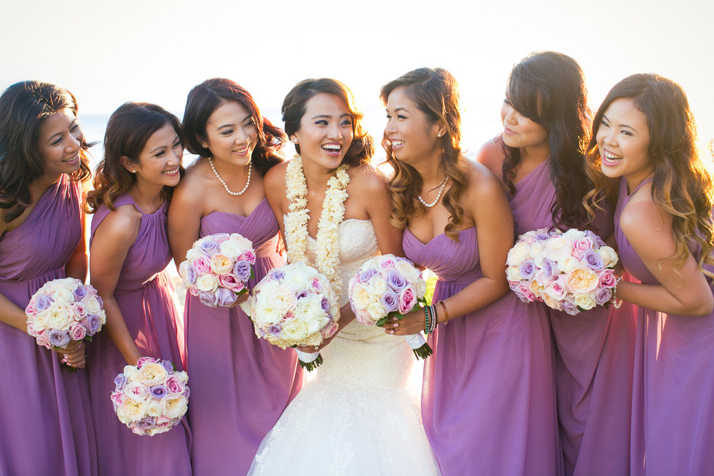 Hyatt Regency Maui Wedding - Bridal party