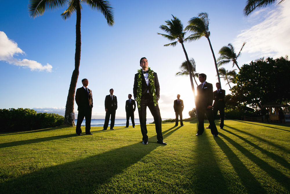 Hyatt Regency Maui Wedding - Groomsmen