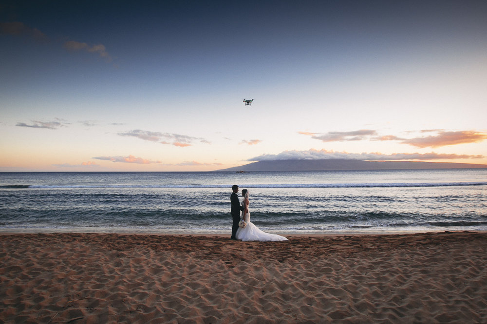 Hyatt Regency Maui Wedding - Alone together on the beach