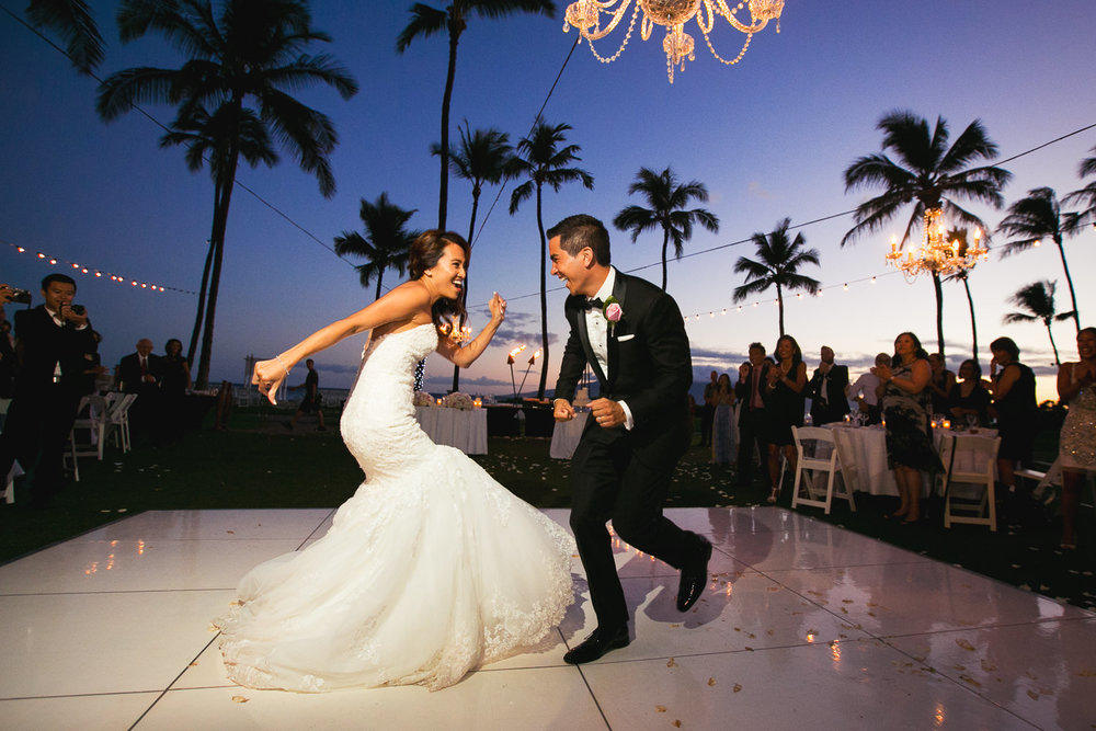 Hyatt Regency Maui Wedding - Their first dance
