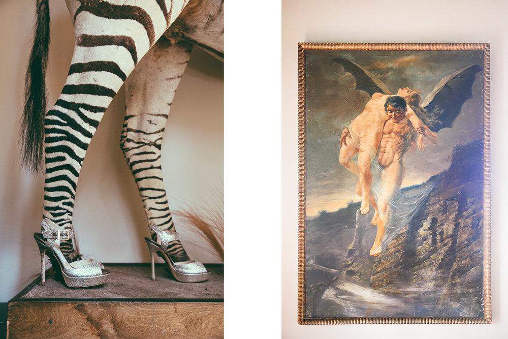 Rose McGowan Wedding at Paramour Estate - Amazing art at the estate