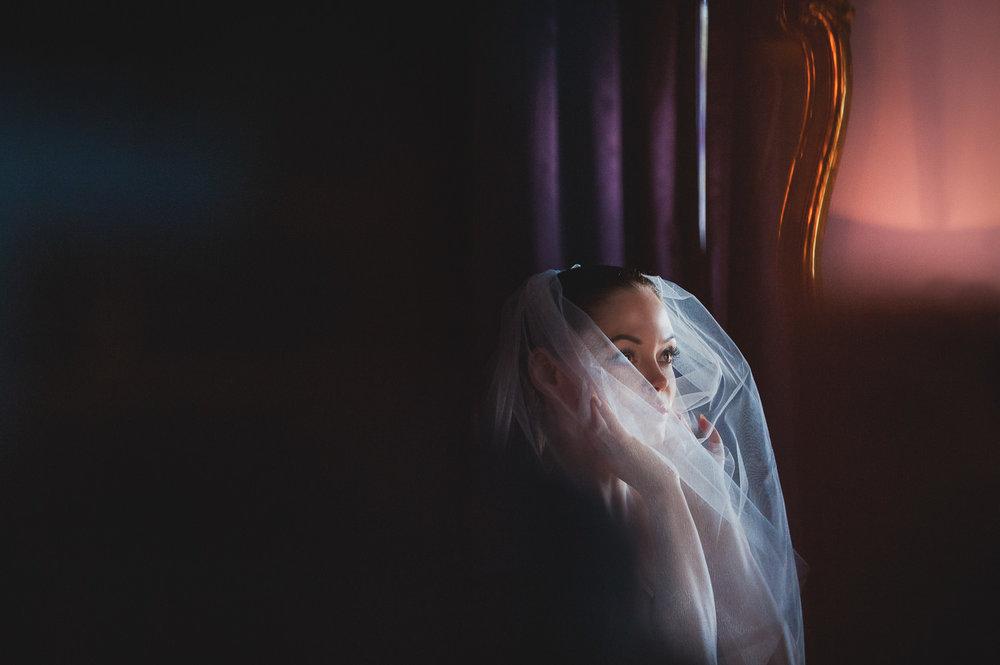 Rose McGowan Wedding at Paramour Estate - Stunning shot of bride