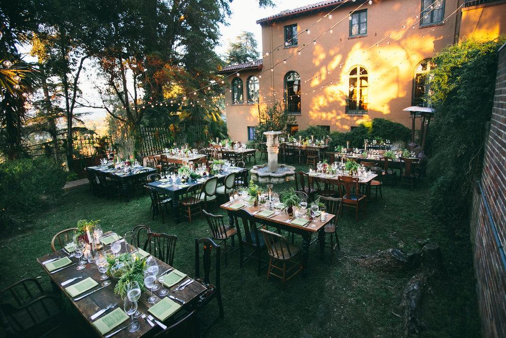 Rose McGowan Wedding at Paramour Estate - Beautiful decor for wedding reception