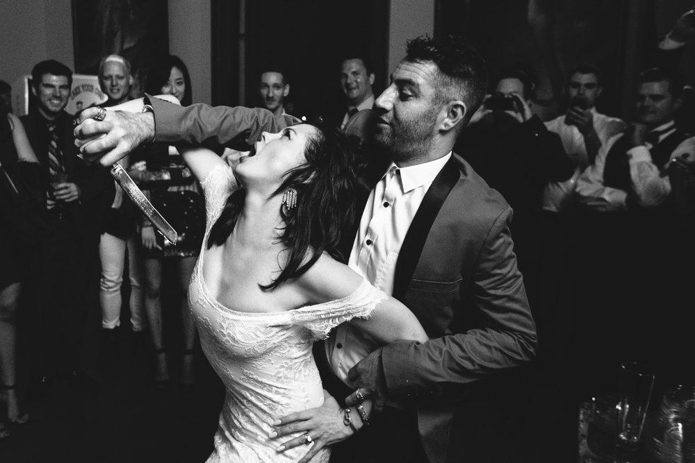 Rose McGowan Wedding at Paramour Estate - Newly Weds dancing