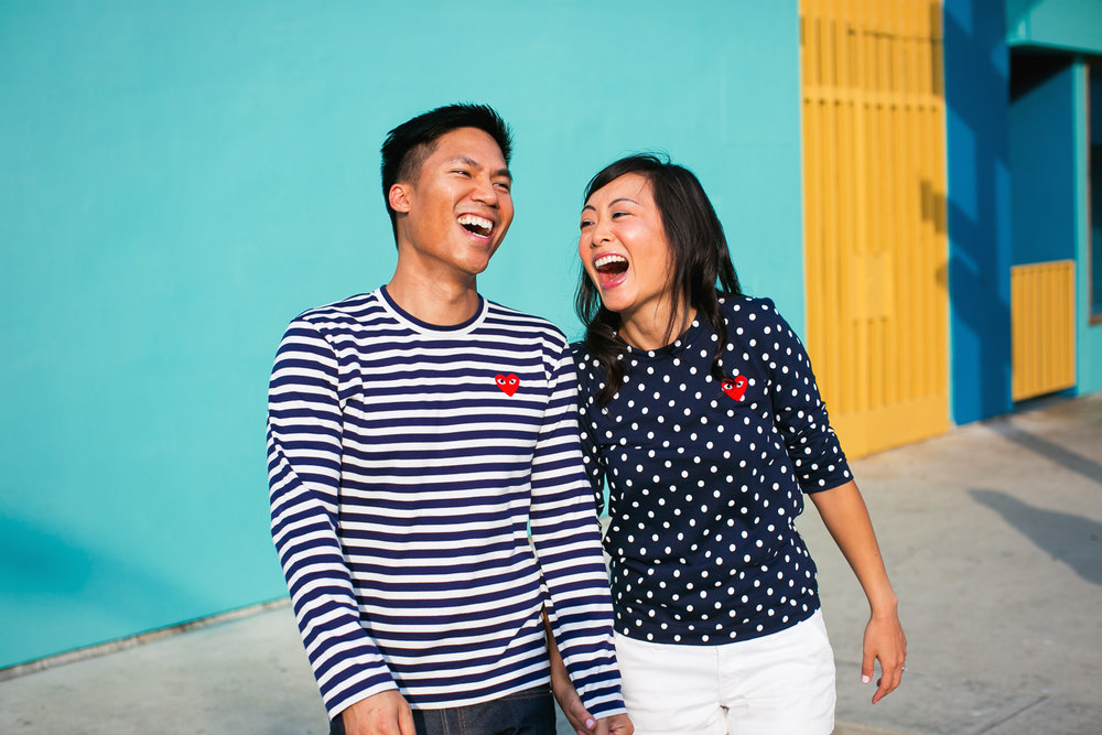 Venice Beach Engagement Photos - Laughing together