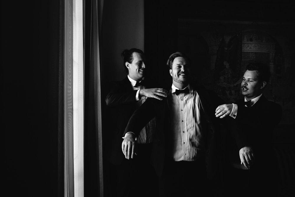 Ebell Long Beach Wedding - Groom with groomsmen