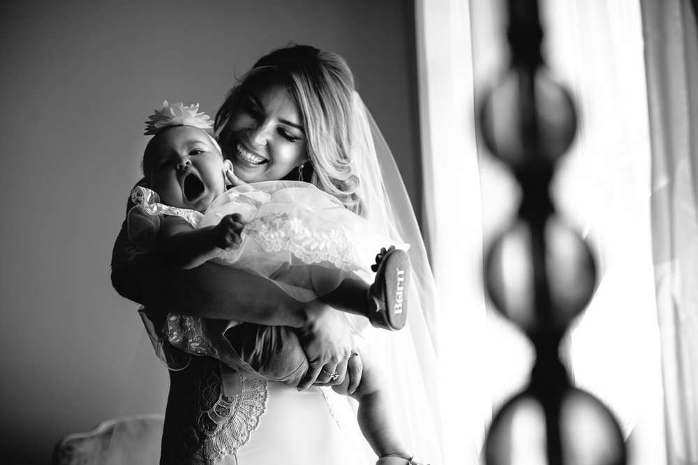 Ebell Long Beach Wedding - Bride with young child