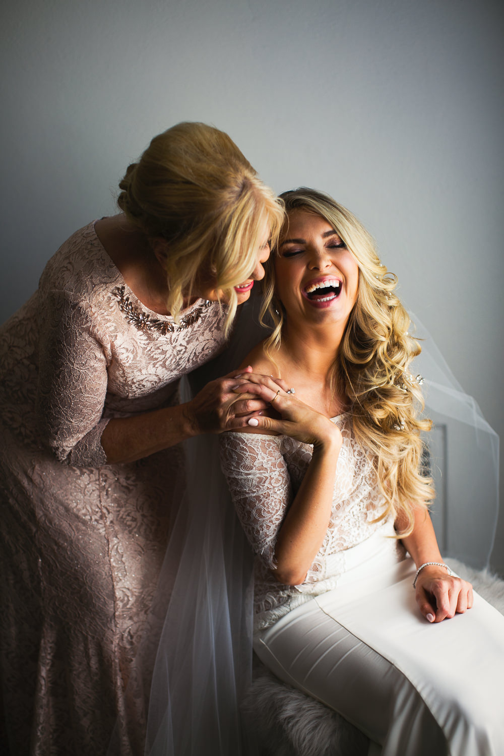 Ebell Long Beach Wedding - Bride laughing