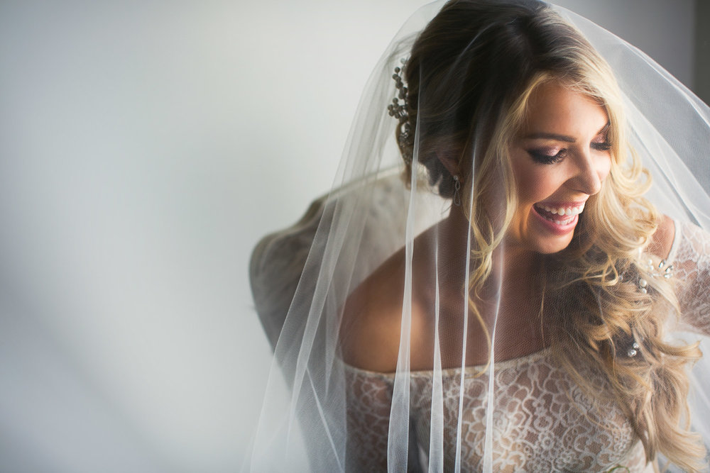 Ebell Long Beach Wedding - Bride with her veil