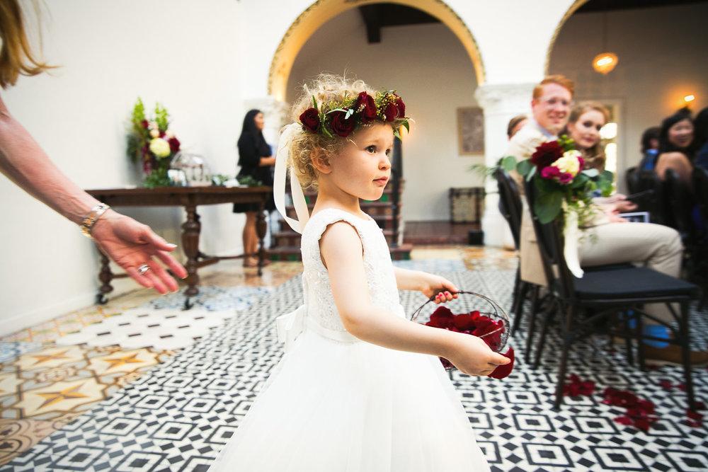 Ebell Long Beach Wedding - Gorgeous flower girl
