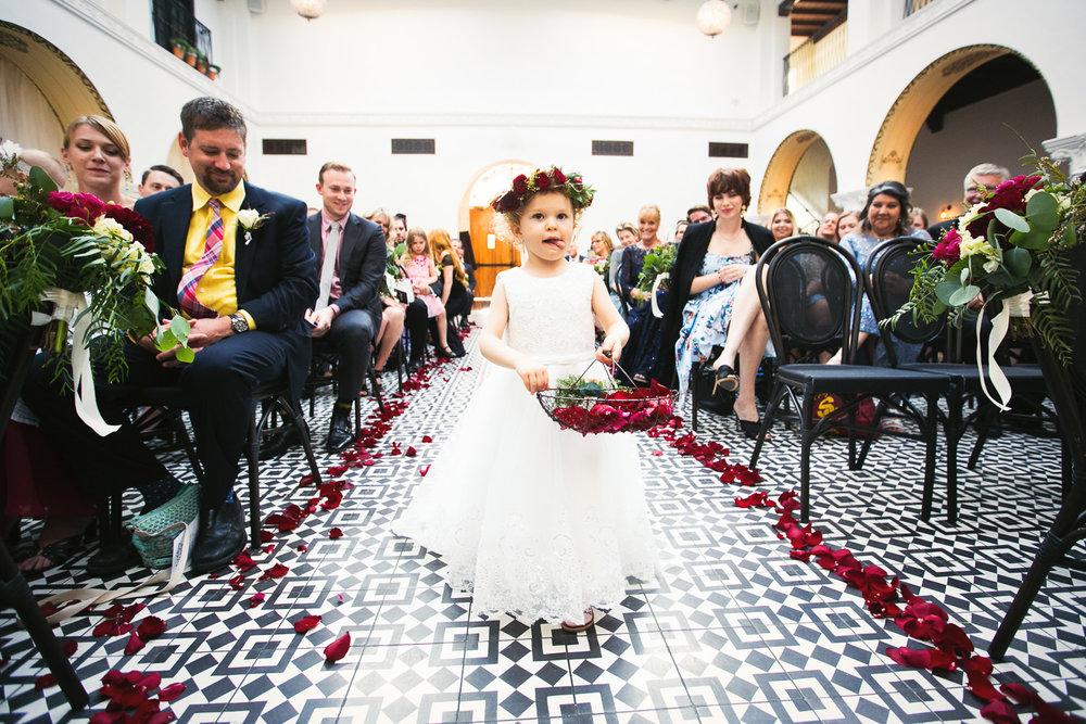Ebell Long Beach Wedding - Another stunning photo of flower girl