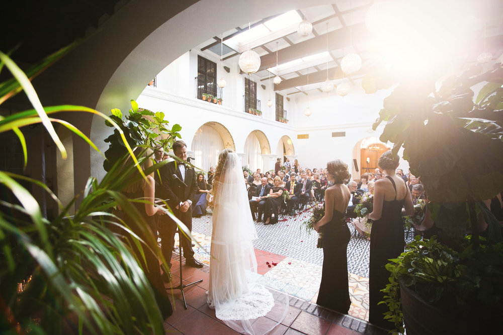 Ebell Long Beach Wedding - Sun shining through on the gorgeous wedding