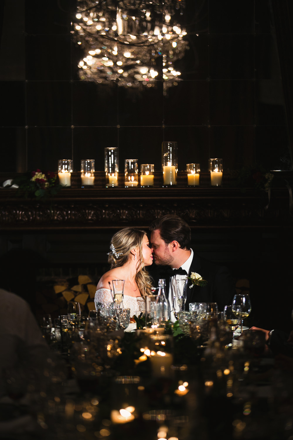 Ebell Long Beach Wedding - Kissing at the reception