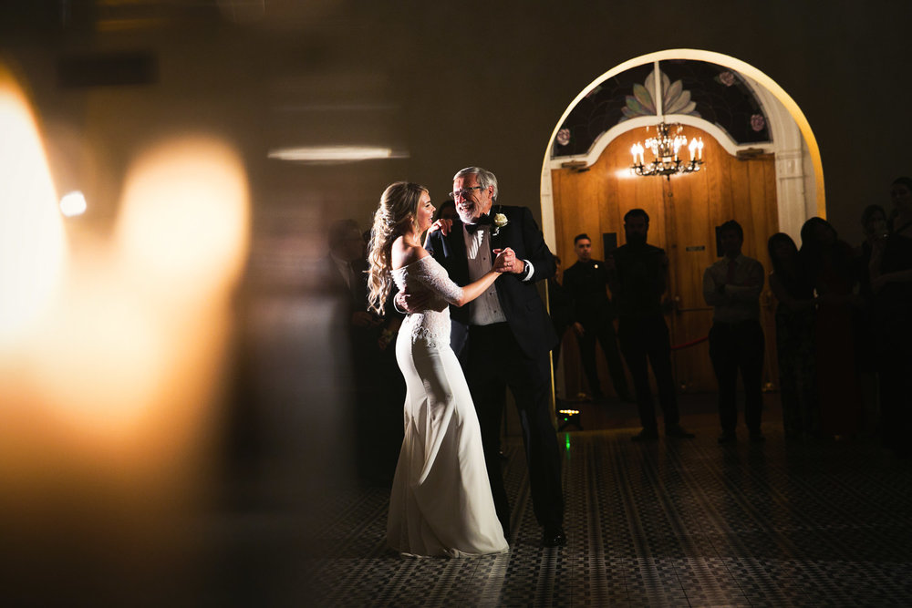 Ebell Long Beach Wedding - Bride dancing with her father