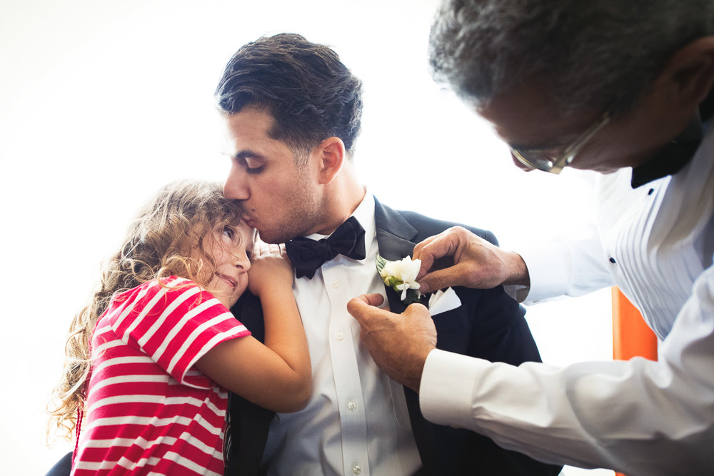 Family moment at the Le Meridien before their Bently Reserve Wedding