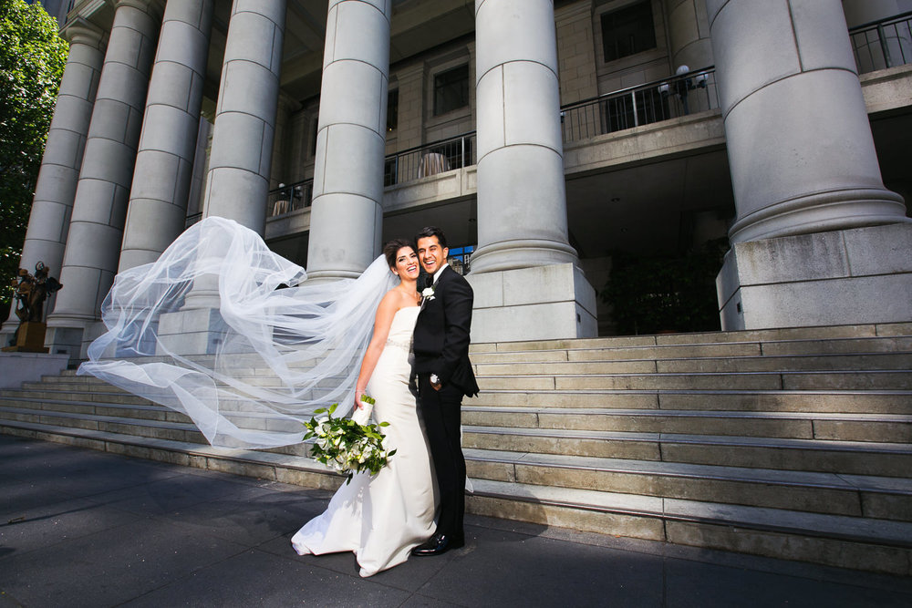 Bride and groom at the Bently Reserve