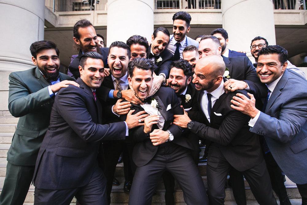 Groomsmen at a Bently Reserve Wedding