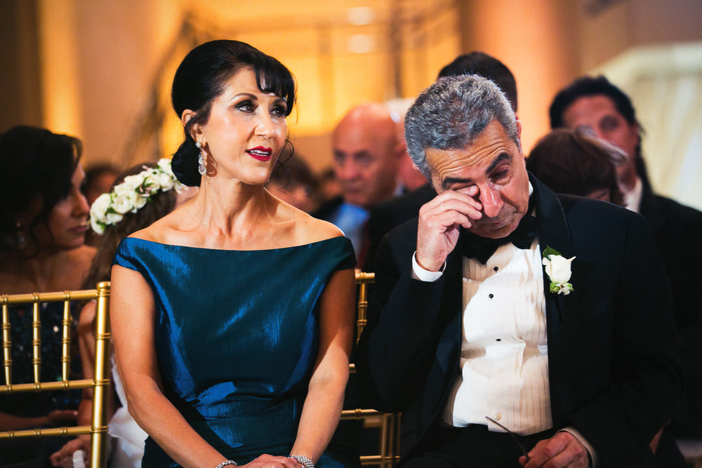 Parents crying during Bently Reserve Wedding