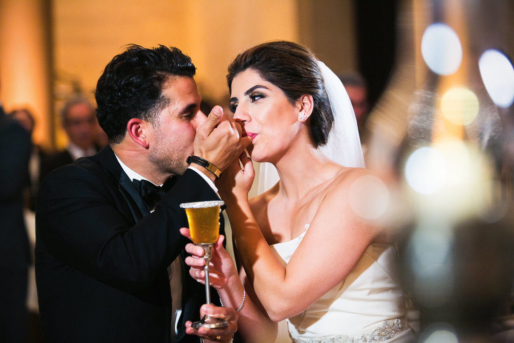 Persian Honey wedding ceremony at the Bently Reserve