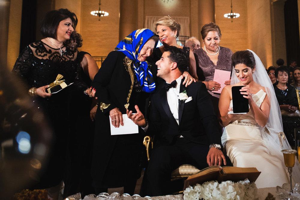 Bently Reserve Wedding Persian gift giving