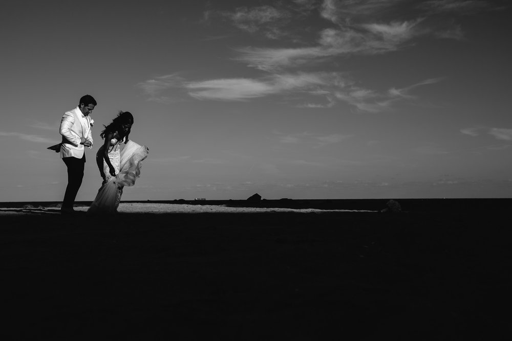 Breakers Palm Beach Wedding Black and White Photo