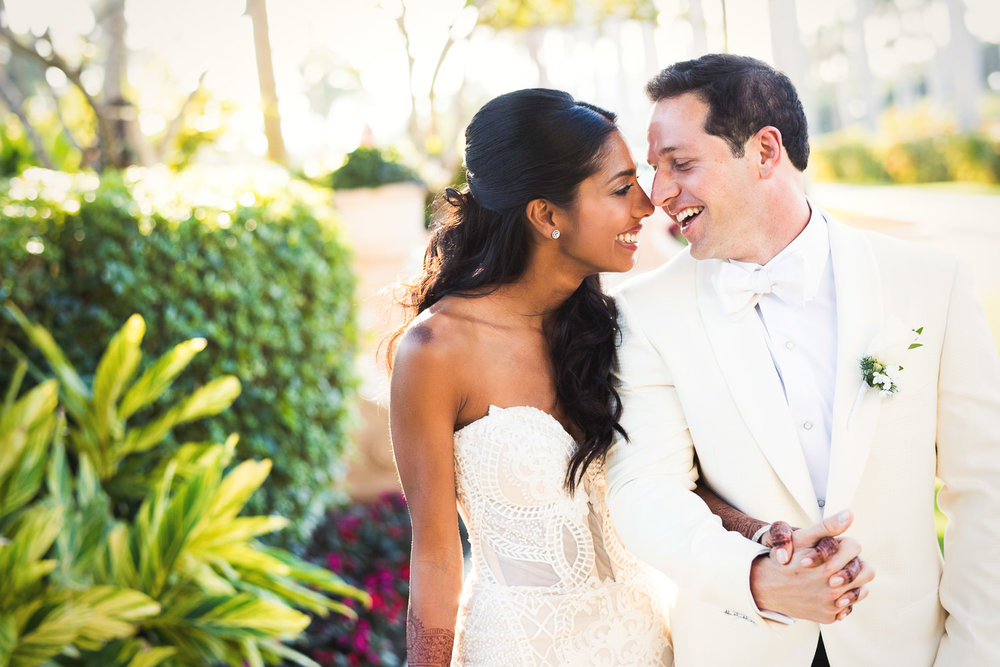 Varsha and Michael are so happy with their Breakers Palm Beach Wedding